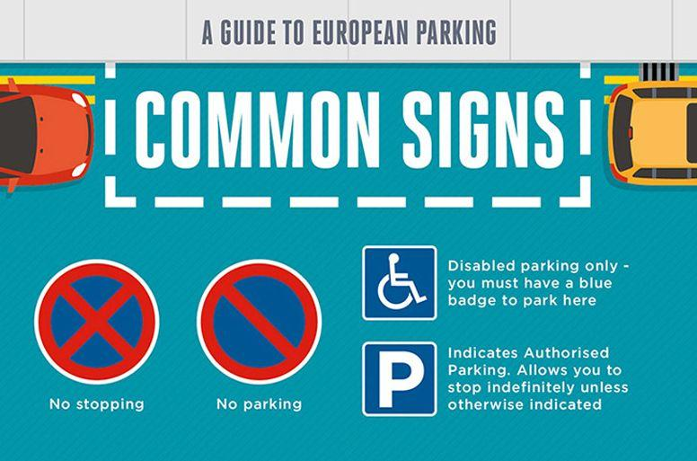 Common european signs infographic