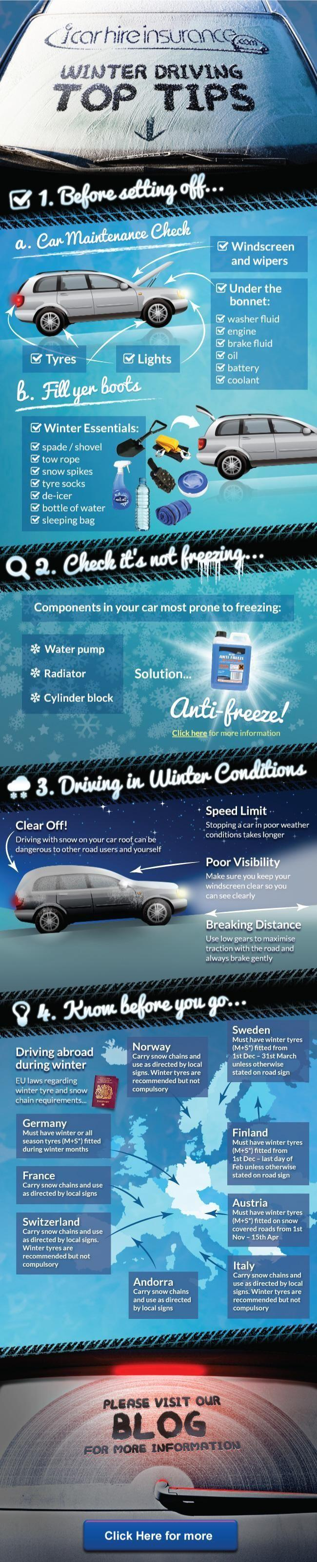 Winter Driving Tips from iCarhireinsurance.com