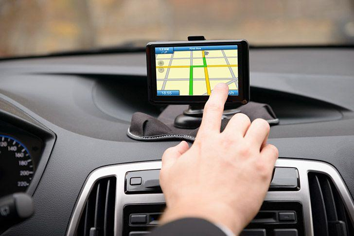 Man using satnav