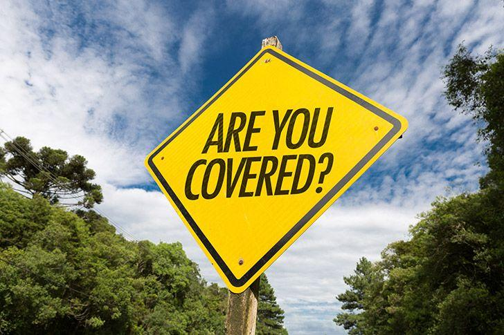 Road sign saying are you covered
