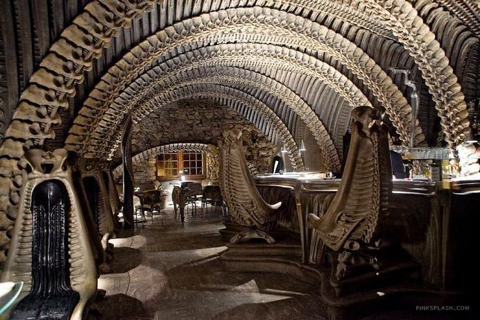 Alien themed HR Giger bar - Switzerland