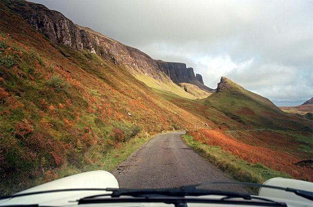 Isle of Skye from car